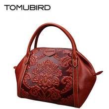 TOMUBIRD new Superior cowhide leather-based Designer Classic Ladies Embossed Floral Leather Tote Casual Shoulder Handbags