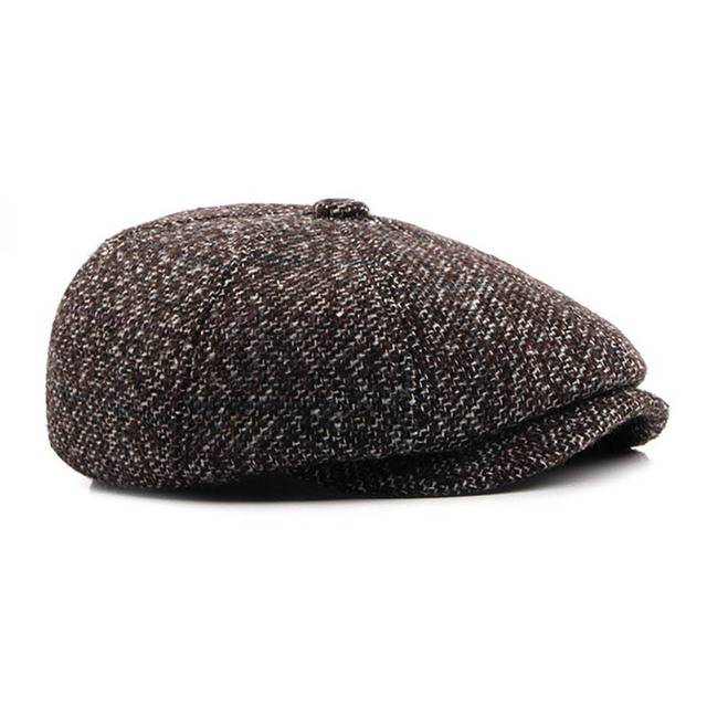 100ce866448 Fibonacci High Quality Flat Cap Wool Large Size Vintage Cabbie Hat Gatsby Ivy  Cap Irish Hunting Ear Flap Newsboy Cap