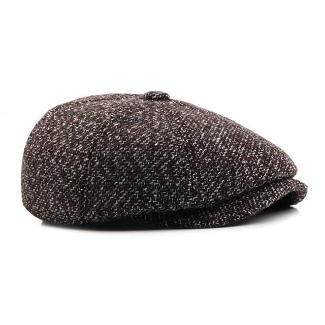 Fibonacci High Quality Flat Cap Wool Large Size Vintage Cabbie Hat Gatsby  Ivy Cap Irish Hunting Ear Flap Newsboy Cap cfec358d410