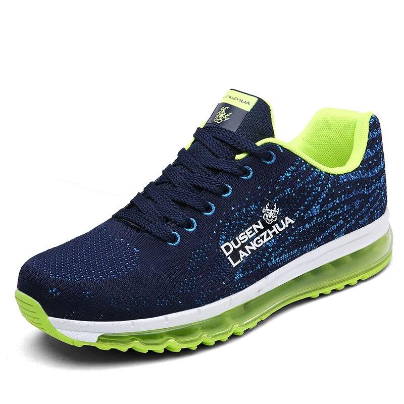 Zapatos corrientes De Los Hombres  Gris/Azul Del Deporte Del Hombre Zapatos de B