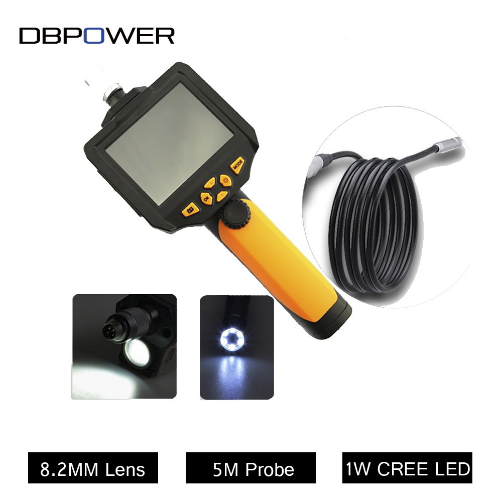 NTS200 3.5 LCD 3MP 720P HD Borescope USB Endoscope 8.2mm 1/2/3/5M Probe 6 Led 4XZoom Inspection Video Cam 360 Degree Rotate Flip