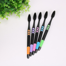 10pcs/set Adults Bamboo Charcoal Toothbrush Home pack Super Soft Hair Toothbrush