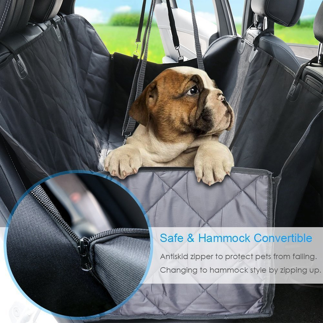 Dog Cover Hammock 600D Heavy Duty Waterproof Scratch Proof Nonslip Durable Soft Pet Back Seat Covers for Cars Trucks and SUVs 1