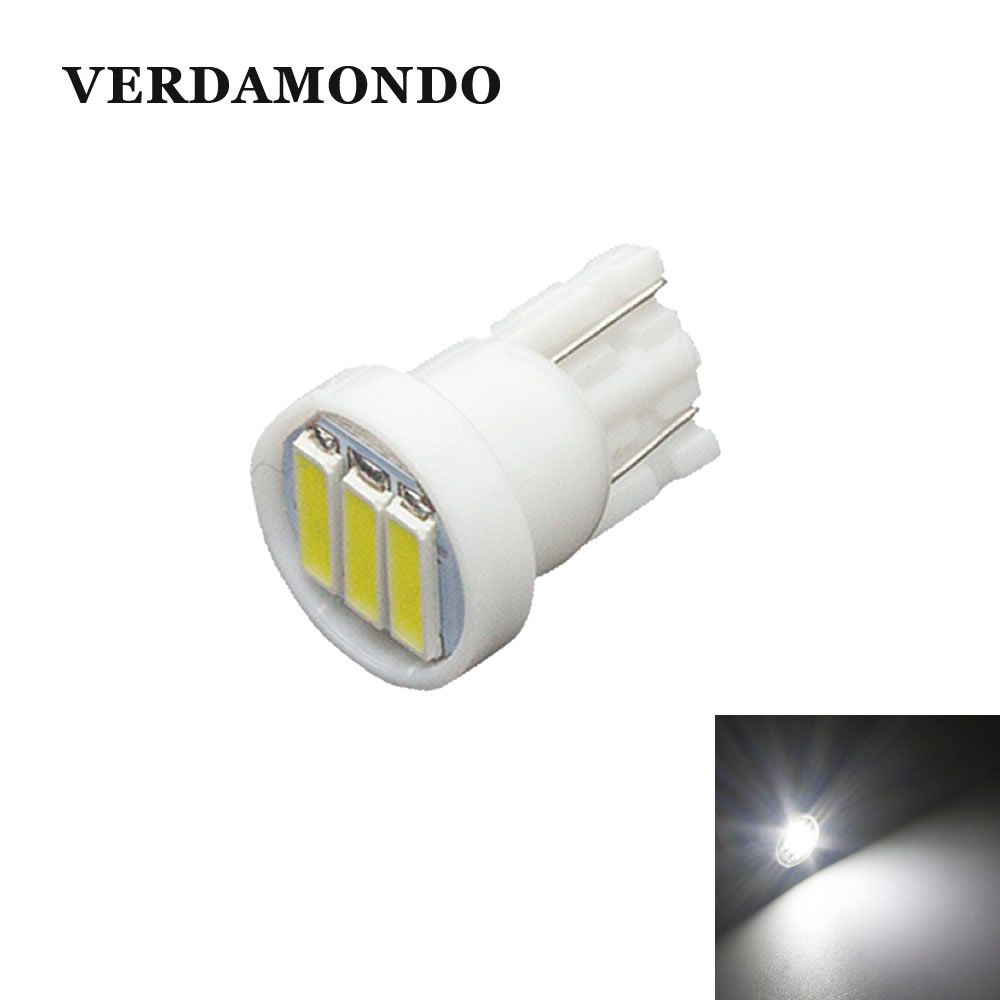 T10 LED Car W5W 3 7020 SMD  Auto Backup Reserve Bulbs Lamps Reading Lamp Turn Signal Lights White Light 6500K DC 12V