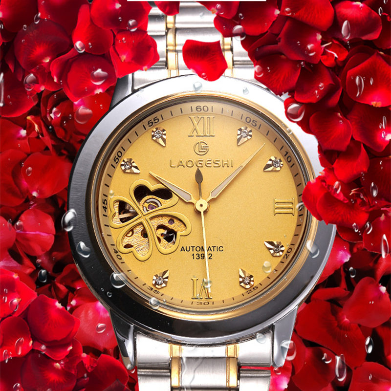 купить Relogio Masculino new Brand Luxury Lover Watches Hollow automatic machine Dress Women Watch Men Couples clock Relogios Femininos по цене 2120.16 рублей
