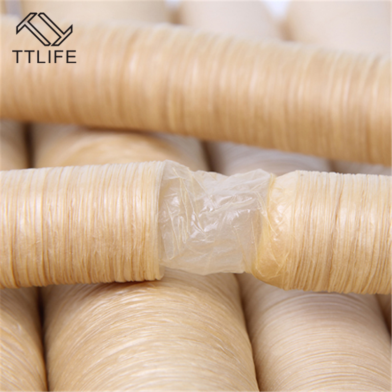 14m*26mm Roast Sausage Dried Sausage Skin Sausage Hot Dog Collagen Casing Shell Collagen Protein Casings Sausage Ham Tools