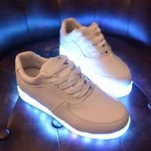 LED Light Up Women Chaussures Luminous Zapatos Schoenen Couples Casual Shoes Men 3 Colors
