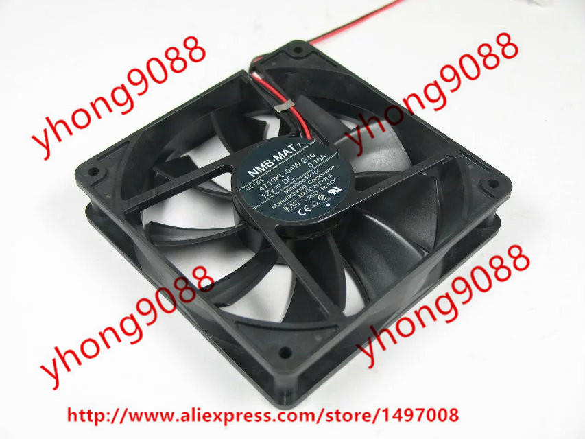 NMB-MAT 4710KL-04W-B10 EA2 DC 12V 0.16A    120x120x25mm Server Square  Fan nmb mat 3110kl 04w b49 b02 b01 dc 12v 0 26a 3 wire server square fan
