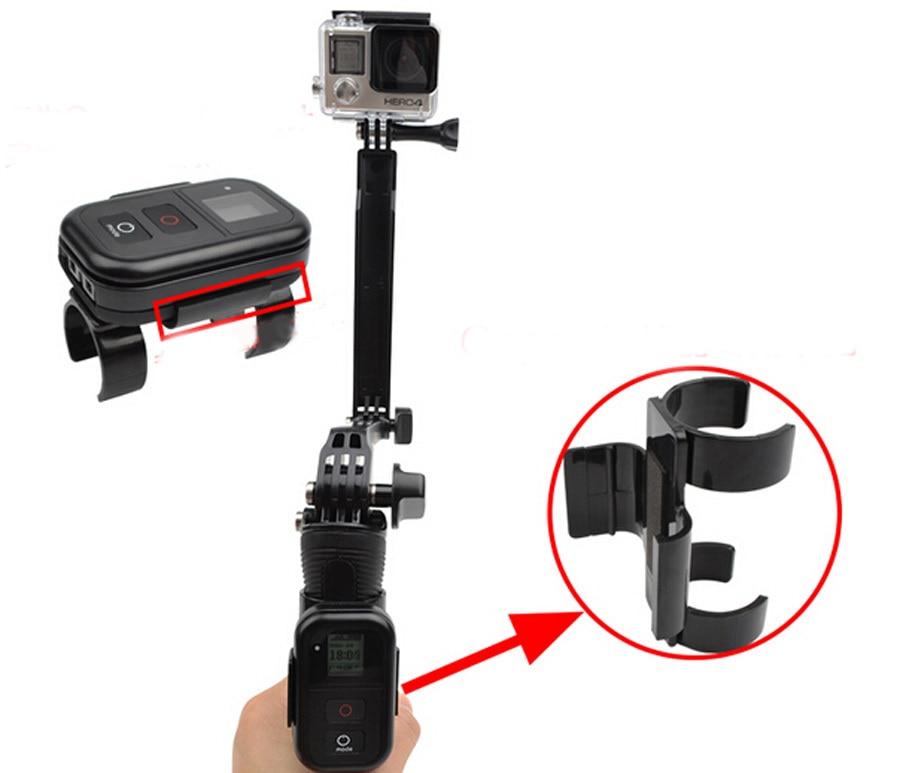 Gopro Accessories Selfie Stick's Wi-Fi Remote Control Clamp Clip Moun