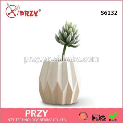 Conception Simple moderne vent jardin pot silicone moule nordique en céramique 3D Vase fleur ornement décoration maison ciment pots moules