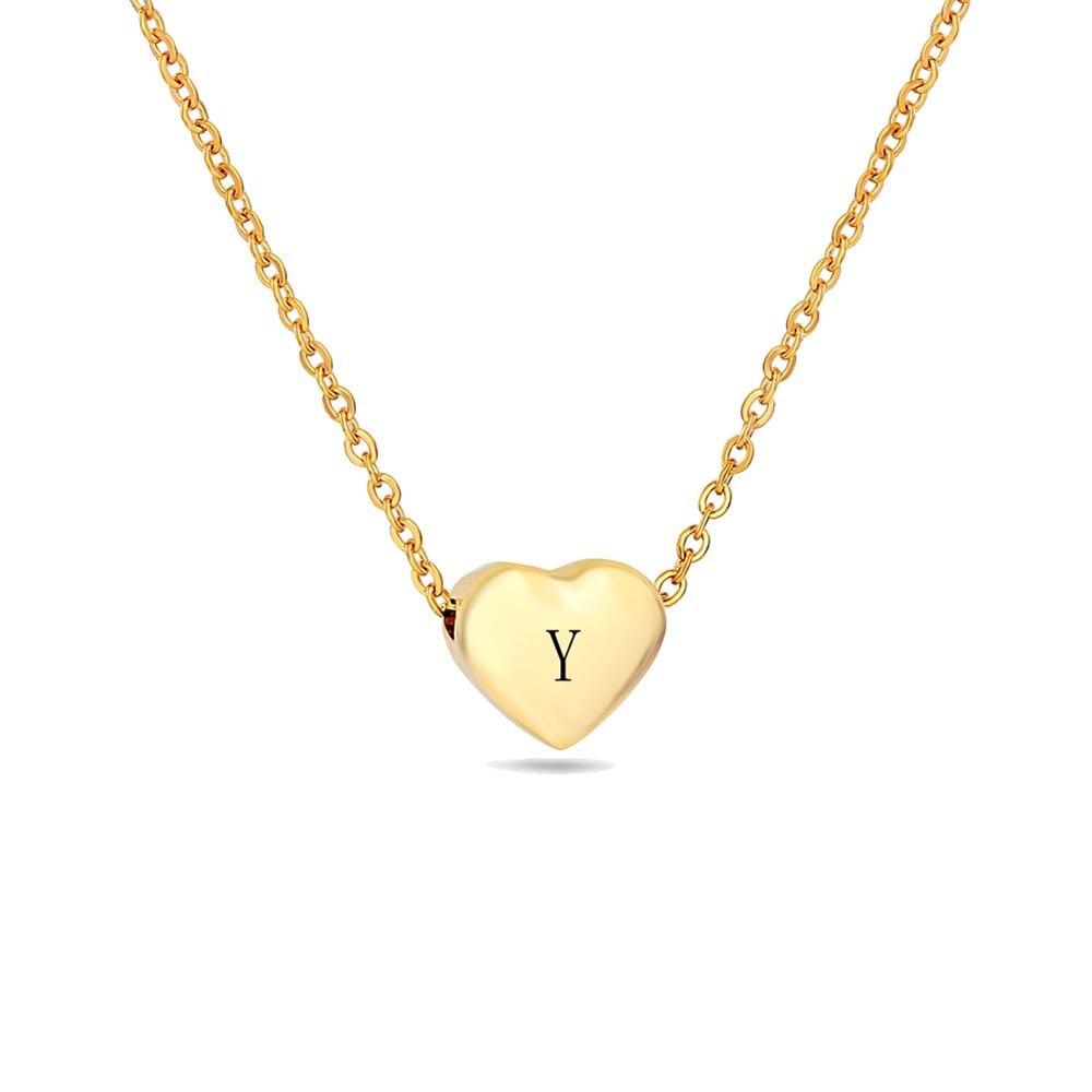 y initial necklace