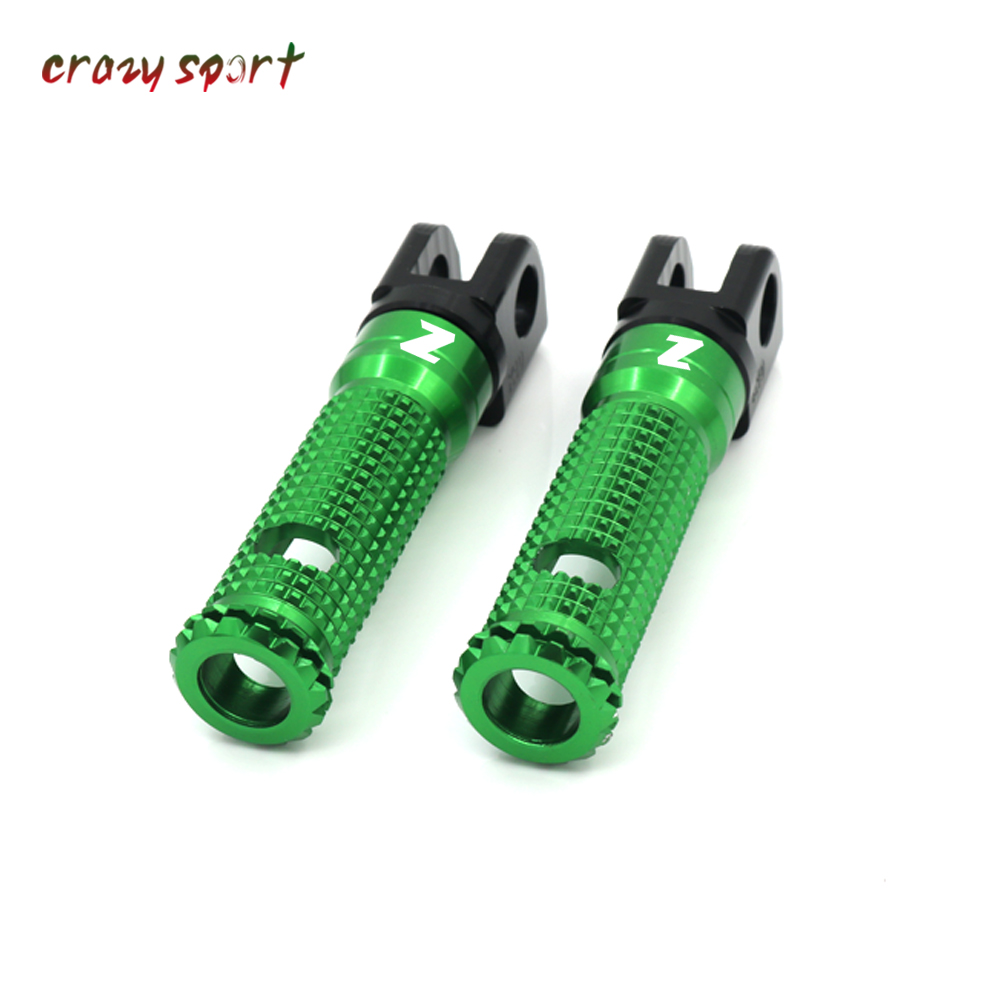 Front Foot Pegs Footrest Adapter For KAWASAKI Z400 Z1000 Z750R Z800 Z 400/1000 2010-2020 Motorcycle Foot Rest Rider With Logo
