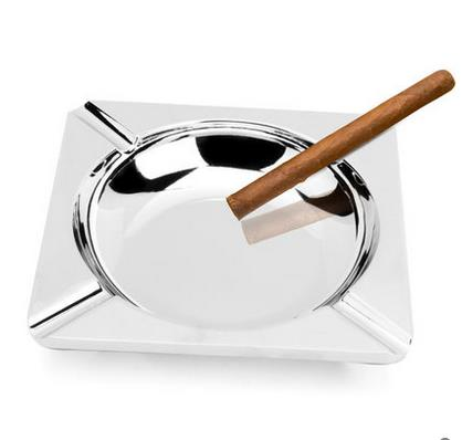 Household Merchandises Ashtrays Zinc alloy quadrate European aristocracy cigar ashtray free shipping