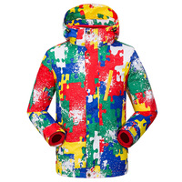 Boy and Girl Winter Camouflage Jacket+Fleece Coat Children Thick Ski Suit Jackets 3 in 1 Windproof Waterproof Clothing 120 160cm