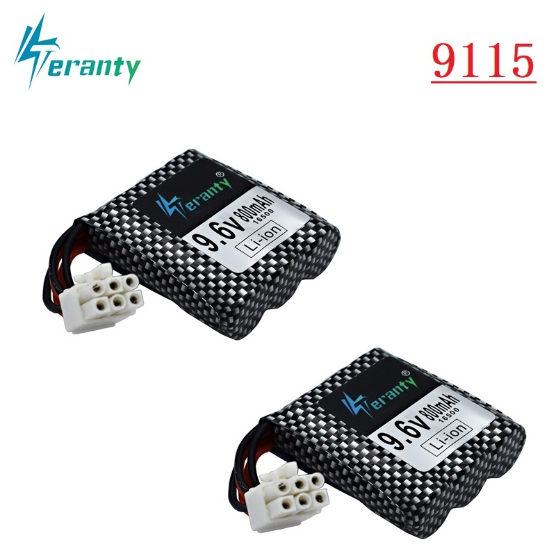 Original 9.6v Li-ion <font><b>Battery</b></font> for <font><b>RC</b></font> Car <font><b>9115</b></font> 9116 9912 S912 <font><b>RC</b></font> Toys Parts 9.6v 800mAh <font><b>Battery</b></font> 16500 EL-6P 6P-SM Plug 2pcs/sets image