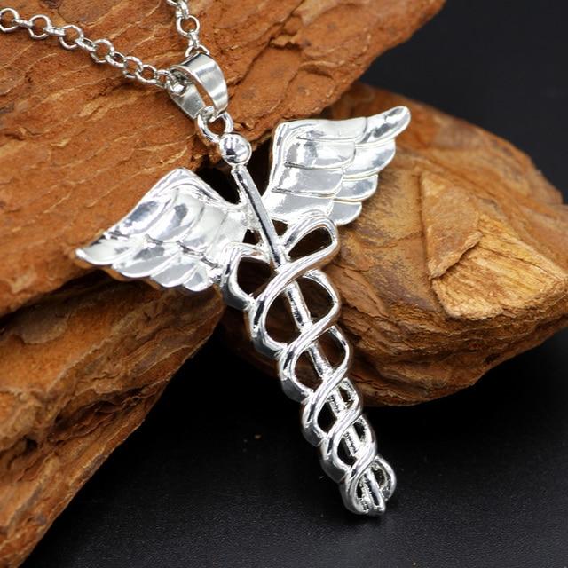 Youe Shone Caduceus Angle Doctor Nurse Medical Symbol Jewelry Snake