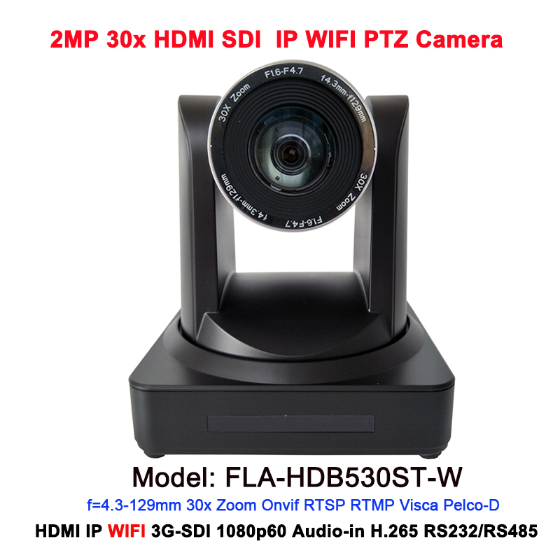 1080P Wireless Video IP PTZ Wifi Conference Camera 30X Zoom Live Stream with 3G-SDI HDMI interface image