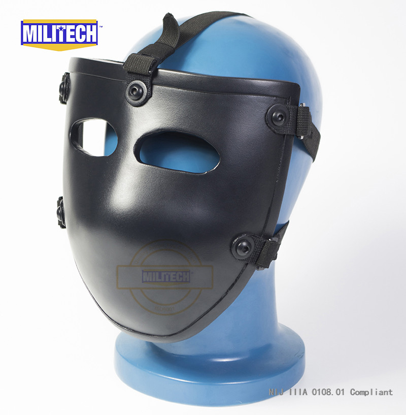 MILITECH Ballistic Mask Bullet proof Visor NIJ level IIIA 3A Aramid Bulletproof Tactical Mask NIJ Rated Ballistic Face Cover militech nij iiia lvl 3a rated steel bulletproof insert nij level 3a bulletproof backpack panel student bag bullet proof panel