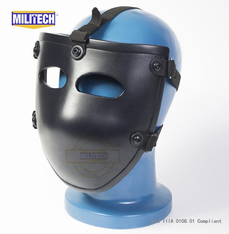 MILITECH Ballistic Mask Bullet Proof Visor NIJ Level IIIA 3A Aramid Bulletproof Tactical Mask NIJ Rated Ballistic Face Cover