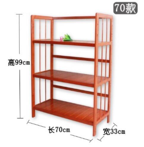Three-Layer Book Storage Shelf Children Bamboo Wood Bookcase Living Room Storage Rack Folding Home Furniture