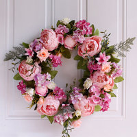 Artificial Silk Peony Flowers Wreaths Wall Door Flowers Garland Wedding Party decoration Home Room Christmas decor