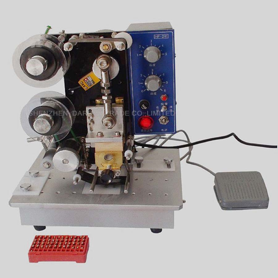 HP-241B Electric Printing Machine Maquina Estampadora Ribbon Hot Stamping Machine Date Coding Machine