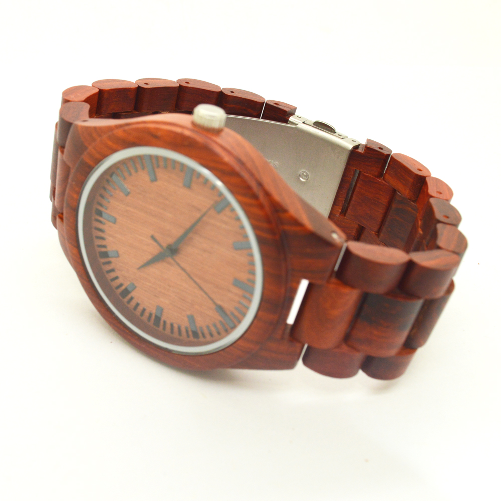 Relojes hombre 2016 mens red font b sandal b font wood watches luxury bamboo wooden watches