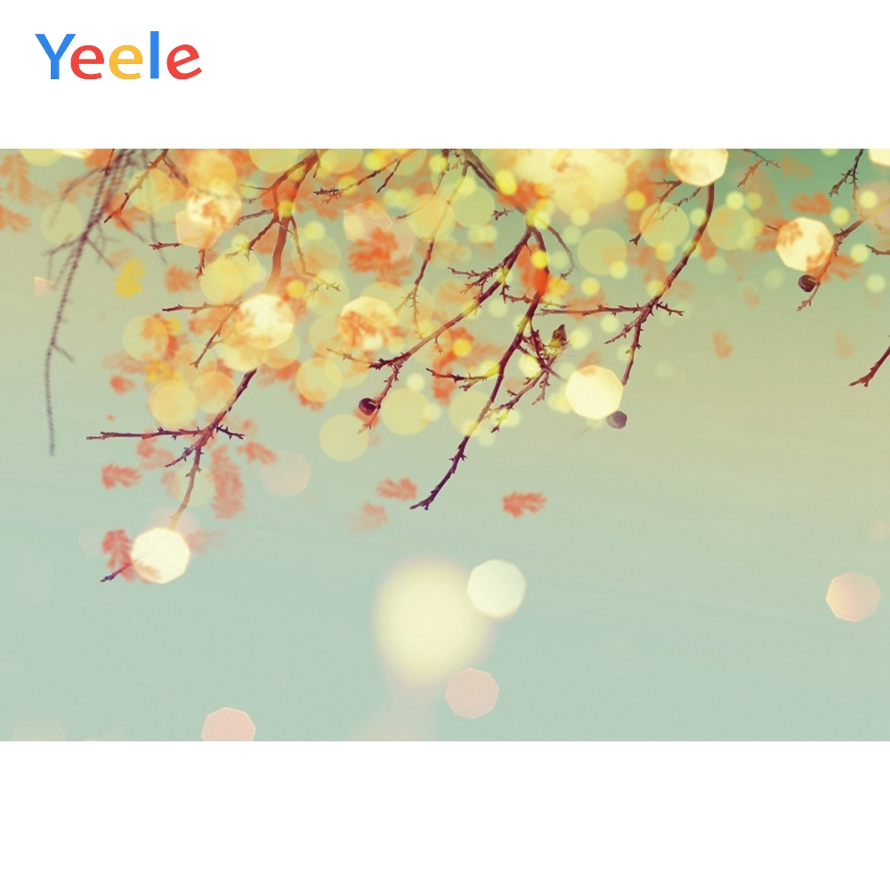 Yeele Wallpaper Bokeh Lights Branch Party Grunge Photography Backdrops Personalized Photographic Backgrounds For Photo Studio