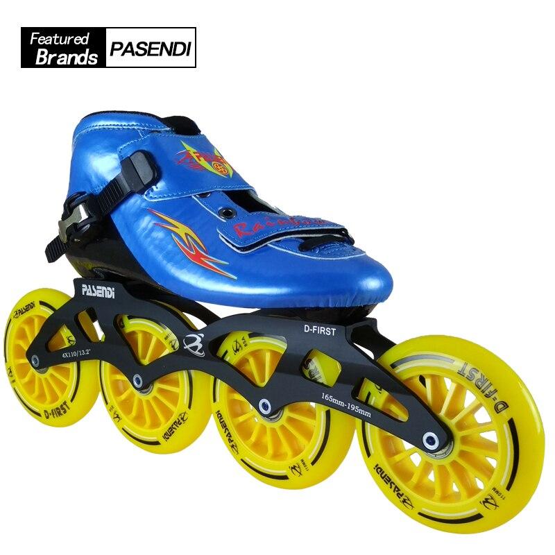 Adultes professionnels Patins à roulettes Slalom/freinage 4 roues patinage Patins à roues alignées femmes/hommes Sports 4 roues Roller chaussures