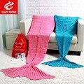 super big bedding sofa tv knitted christmas birthday adult 95x195cm kids 70x140cm gift crochet mermaid tail throw blanket