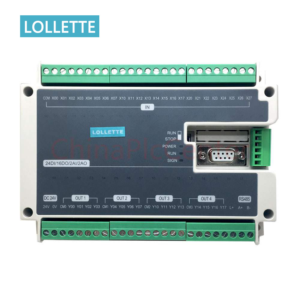 US $125 0 |FX1N FX2N FX3U 40MT 24DI 16DO 2AD 2DA Analog for PLC RS485  Modbus 4 Axis High Speed Pulse 100KHz Output Stepper Motor-in Motor  Controller