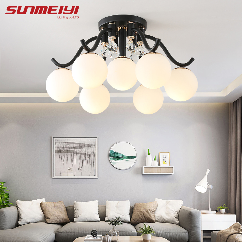 Modern LED Crystal Ceiling Lighting Fixture For Bedroom Kids Room Foyer  Kitchen Suspension Luminaire Living Room Lights