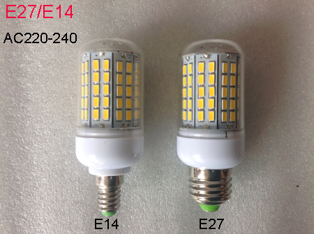 Lampada led e27 e14 220v 96 smd corn light lamp 15w ac for Lampade led 220v