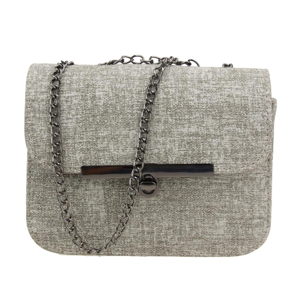 76a26968f28c New Fashion Women Bag PU Leather Mini Chain Handbag Shoulder ...