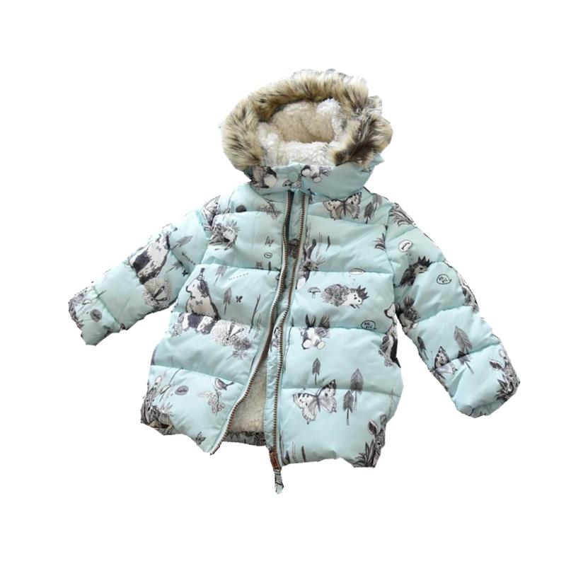 fcf90e337 Ymila70 2017 New Winter Baby Girl Coat Print Rabbit Bunny Fleece ...