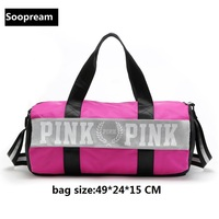 Vs Love Pink Girl Yoga Bag Men Sportstote Women Duffle Bags Shoulder Nylon CrossBody Bag Canvas