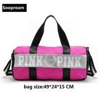 Vs Love Pink Girl Yoga Bag Men Sportstote Women Duffle Bags Shoulder Nylon CrossBody Bag Canvas