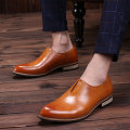 popular pointed toe men shoes breathable Bullock trend oxfords Korean version PU leather male fashion shoes size 39-44