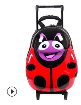 8c79a3314 Huevo maleta de ruedas para niños de los niños de la escuela mochila para  niños Carro de equipaje de viaje de dibujos animados de la maleta de las  niñas con ...