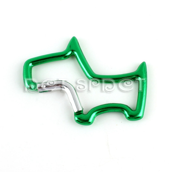 Free Shipping Green Carabina Hook Scotty Dog Shape Golf Bag Keychain Clip Climbing Mountain Hiking Snap Hook