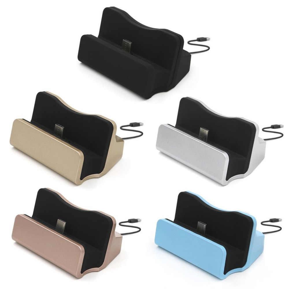 USB2.0 نوع-C الهاتف شاحن سريع جهاز شحن محطة الإرساء سطح المكتب شاحن مهد حامل دعم البيانات مزامنة لالروبوت الهاتف