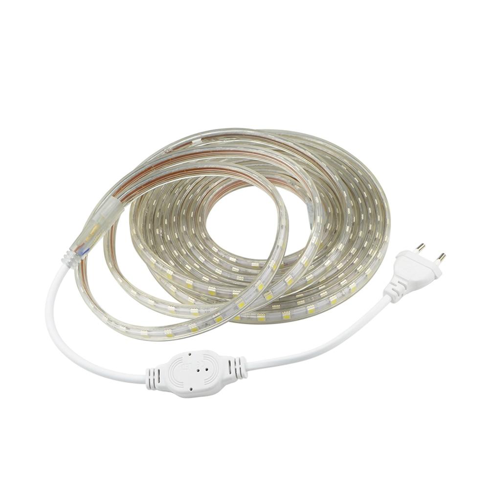 AC 220V SMD 5050 Led Strip Flexible Ribbon Light 1M 2M 3M ...
