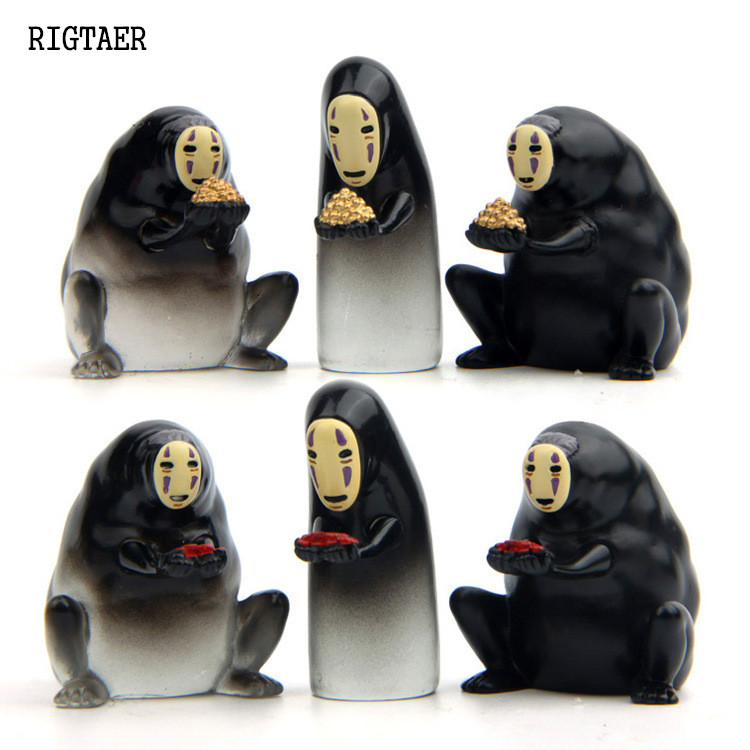 2017 baby toys Spirited Away Bath soup no face men gift Anime cartoon Model action & toy figures doll Decoration Doll Kids Toys