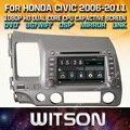 Witson gps dvd del coche para honda civic 2006-2011 con pantalla 1080 p dsp capctive wifi/3g/dvr (opcional) buen precio + envío gratuito