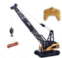 Nova RC Escavadeira Escavadeira sobre esteiras 157 16CH 2.4G liga de Metal Construção de guindaste de Torre Da Grua modelo de caminhão de Controle Remoto Elétrico brinquedo
