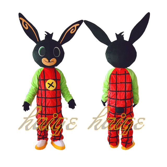 New shot rabbit BING Mascot costume Fancy Dress Christmas Cosplay for Halloween party event