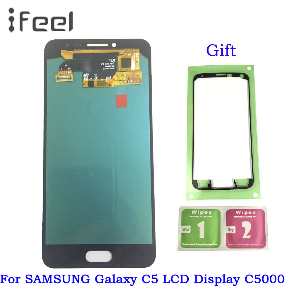 5.2inch Super AMOLED LCD for SAMSUNG Galaxy C5 C5000 LCD Display + Touch Screen Digitizer Replacement Parts5.2inch Super AMOLED LCD for SAMSUNG Galaxy C5 C5000 LCD Display + Touch Screen Digitizer Replacement Parts