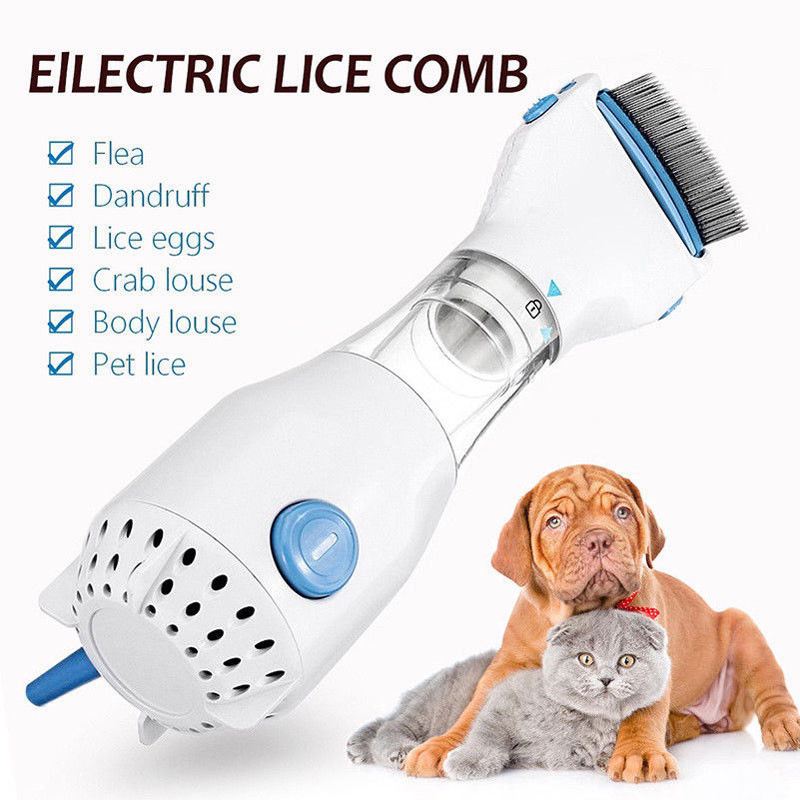 Head Lice Electric Capture Filter Lice Pet Dogs Cats Electric Lice Comb Flea Treatment Removes Lice