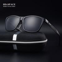 HD. espaço homens de alumínio e magnésio Óculos Polarizados 2017 Moda Full HD quadro Óculos De Sol dos homens UV400 lunettes de soleil homme