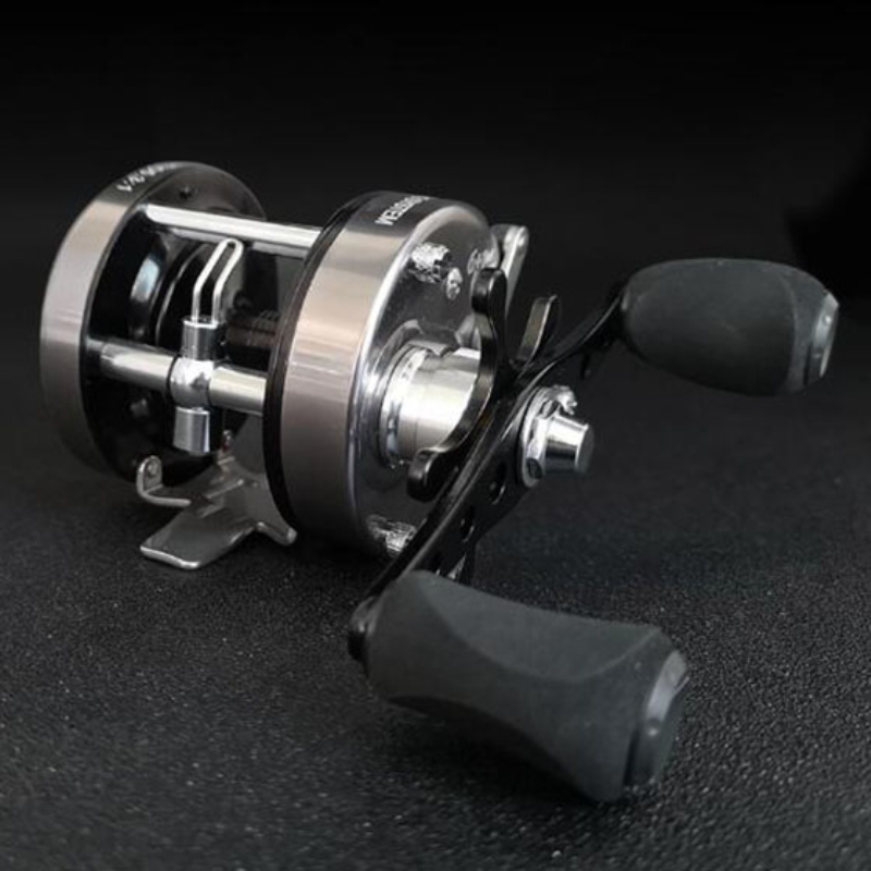 Smooth Lightweight Trolling Reel Ice Fishing Reels Baitcasting Fishing Lure Reel Cast Drum Wheel Reel Left